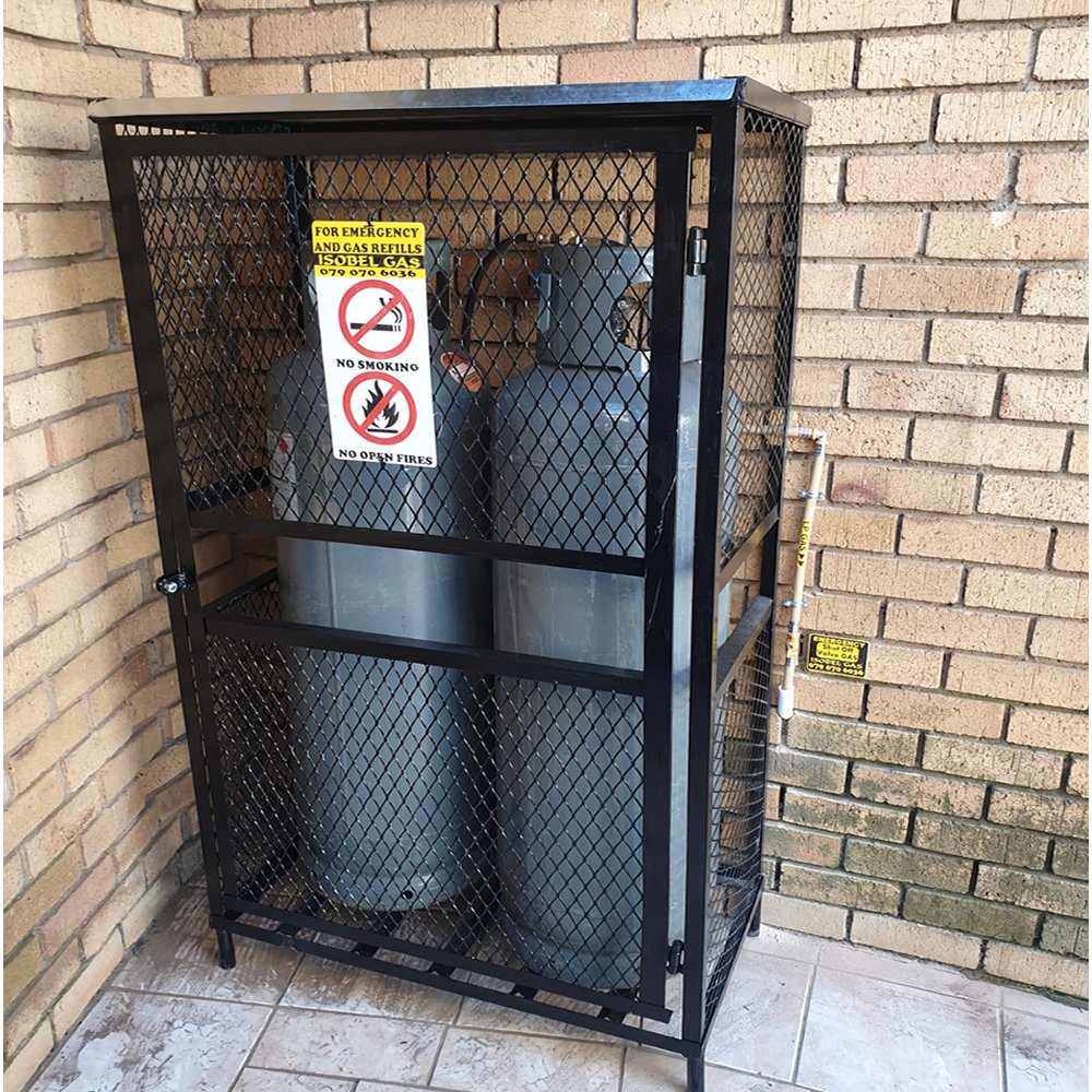 double-48kg-gas-cylinder cage